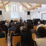 義塾、聖愛の入学記念礼拝