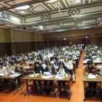 東北町での石川牧師の講演会の様子。