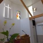 聖日礼拝の朝の会堂