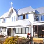 改装が完成した浪岡伝道所の新会堂