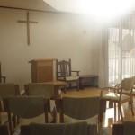 新しい礼拝堂に光がさす