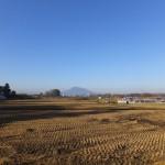 浪岡から見た岩木山