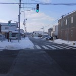 こんなに雪が少ない弘前の街
