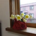 会堂の供えられた花