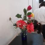 礼拝堂を彩る花々