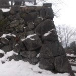 石垣工事準備中の弘前城