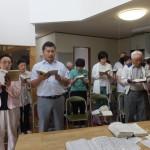 浪岡新会堂初めての礼拝