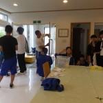 聖愛の高校生が清掃奉仕