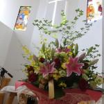 石川牧師の古希を祝う花