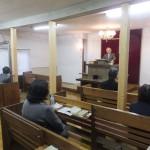 浪岡旧会堂で最後の礼拝