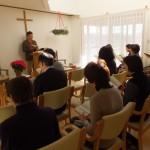 浪岡伝道所で行われた合同祈祷会の様子