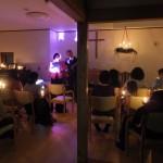 浪岡のイブ燭火礼拝