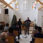 元旦礼拝でジョン&ユーコ