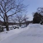 弘前公園も例年の五分の一の積雪