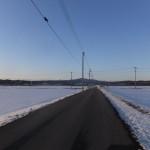 雪解け進む津軽平野