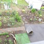 浪岡の2階から庭を望む